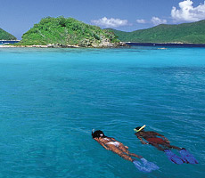 Excercising the good life in the clear blue waters of the Virgin Islands